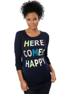 here comes happy maternity sweater by Motherhood Maternity | Pregnancy Wishlist