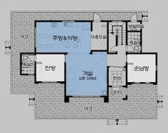 월간전원주택라이프 Farmhouse Kitchen Decor, Detached House, Home And Living, Building A House, House Plans, Floor Plans, House Design, How To Plan, Interior Design