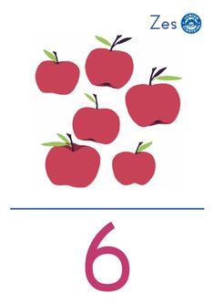 Cijferkaart 6 - Met deze cijferkaart leer je het cijfer 6. De afbeelding op de kaart ondersteunt het getalbeeld wat bij het cijfer 6 hoort. Hierdoor ontwikkel je jouw getalbegrip. Door de heldere opmaak en kleurrijke illustratie, leer je gemakkelijk wat het cijfer 6 betekent.