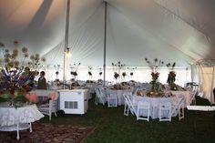 Outdoor Wedding #tentwedding #tentreception #jamestownawning