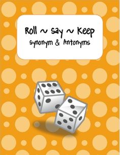 Students will have fun creating synonyms and antonyms with partners.  This cooperative learning activity includes 36 cards, one game mat, a recordi...