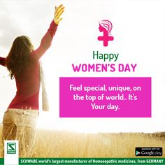 This #WomensDay , take a pledge to stay healthy & happy with #SchwabeIndia .