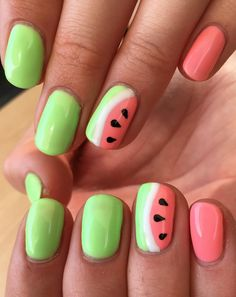 Watermelon Accents – Nailpro - All For Hair Color Trending Red Nails, Hair And Nails, Bling Nails, Watermelon Nail Art, American Nails, Stiletto Nail Art, Red Nail Designs, Easter Nails, Japanese Nails