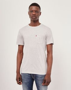 Levi's Red Tab Set-In Sunset Pocket Shirt Grey | Shop now at The Idle Man | #StyleMadeEasy