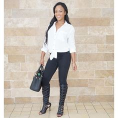CASUAL AND CUTE FOR THE DAY :) http://www.instagram.com/latoyaforever
