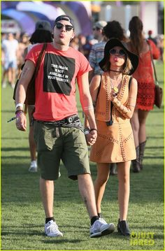 Sarah Hyland and Dominic Sherwood at Coachella Music Fest April 12,2015