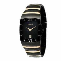 elgin men s textured watch and bracelet set bracelets watches elgin men s fg543 black ion plating and gold tone bracelet watch elgin 127 99