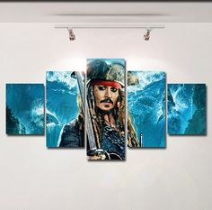 Pirates of the Caribbean poster canvas wall art print painting