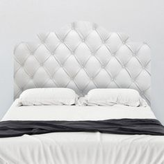 Faux Tufted Adhesive Headboard wall decal