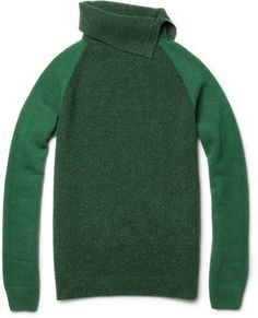Bottega Veneta Wool and Cashmere blend Rollneck Sweater - 2013 Emerald Green