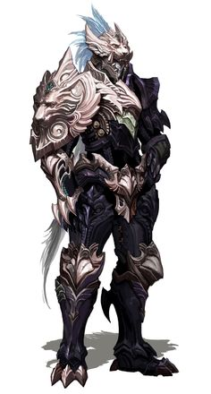 View an image titled 'Male Forgotten Abyssal Plate Armor Art' in our Aion art gallery featuring official character designs, concept art, and promo pictures. Fantasy Character Design, Character Concept, Character Inspiration, Character Art, Fantasy Armor, Medieval Fantasy, Dark Fantasy, Armor Concept, Concept Art