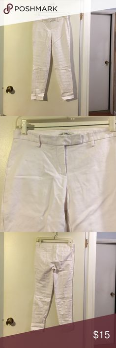 Dalia collection white skinny pants Cotton with a touch of spandex. Flat front. dalia collection  Pants Skinny
