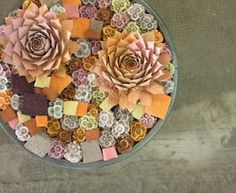 Spray painted succulents Bournay flower it with Paint Wedding Bride, Succulents, Deserts, Succulent Ideas, Peach, Plates, Tableware, Flowers, Yard