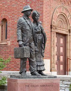 The Hill  [The Italian Immigrants statue, at Saint Ambrose Roman Catholic Church, in the Hill neighborhood of Saint Louis, Missouri, USA]