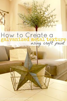 How to Create a Galvanized Metal Texture {using craft paint}