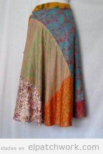 Faldas largas hechas de patchwork o quilting 3