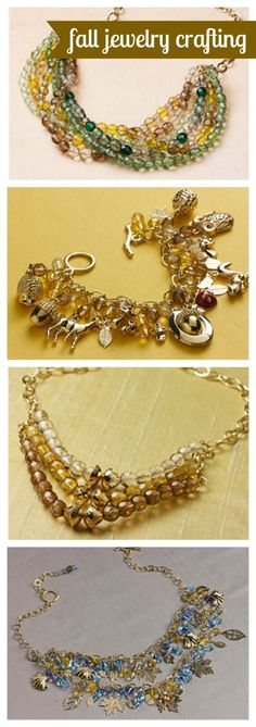 Four Fabulous Fall Jewelry Crafting Tutorials using Martha Stewart Crafts jewelry line - click thru for the full tutorials