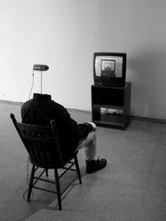 headless-horse: Watching Television - Andy Vible, 2011