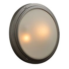 """PLC Lighting 8039 Ricci-II 2 Light 16"""" Wide Outdoor Wall Sconce with Disk Shaped Bronze Outdoor Lighting Wall Sconces Outdoor Wall Sconces"""