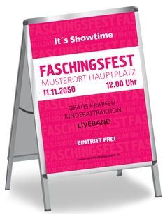 Faschingsfest Poster von onlineprintxxl.com #faschingsposter #faschingsplakat #plakatvorlagen #posterdesign #onlineprintxxl