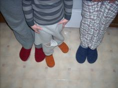 Felted Clogs, pattern to buy from Fiber Trends. Most fun and warm, comfy slippers EVER.