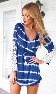 80bac39b9b6b Long Sleeve Lace Stitching Sexy Skirt on Luulla Bohemian Dresses Short