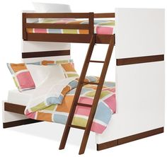 Moda  Room & Board bunk bed, twin over full. This comes in different colors, too.