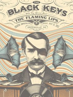 THE BLACK KEYS / THE FLAMING LIPS #gig #poster