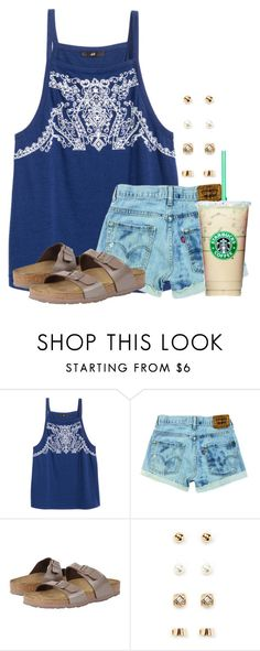 """Can't wait to sleep in tomorrow"" by flroasburn ❤ liked on Polyvore featuring Birkenstock and Forever 21"