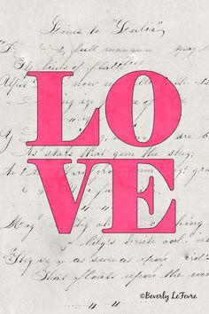 love  pink by leprintshoppe on Etsy