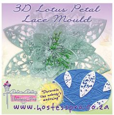 3D Lotus Flower Mould Made with Crystal Lace  Shop from the comfort and safety of your home Shop Online!! www.hostesspro.co.za We send parcels to where you are.. Click on the link below to view more details on this product Visit our website to see our exciting products. Cake Decorating Made Easy.. #cakedecorating #sugarcraft #hostessprosugarcraft #cake www.hostesspro.co.za