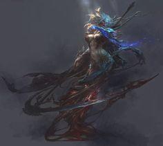 白骨精, Fenghua Zhong on ArtStation at https://www.artstation.com/artwork/6o4lV