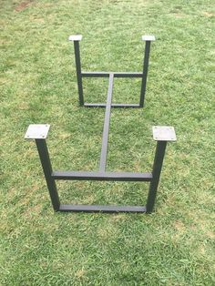 Metal Legs - Trestle Base Square - Adjustable Height Table Legs - Black Steel Legs - Bench Legs - Repurposed Legs by GuiceWoodworks on Etsy https://www.etsy.com/listing/230591949/metal-legs-trestle-base-square
