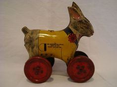 TIN-TOY-BUNNY-PULL-PUSH-TOY-LINDSTROM-TOOL-amp-TOY-CO-BRIDGEPORT-CONN-1913-40 Push Toys, Bunny Toys, Tin Toys, Wooden Toys, Amp, Wooden Toy Plans, Wood Toys, Rabbit Toys, Woodworking Toys