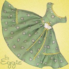 Gingham & Daisies- Vintage Barbie Doll Dress Reproduction Barbie Clothes Fashion