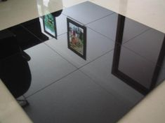 Black Tiled Floor And Walls Natural Shanxi Granite Flooring Tiles