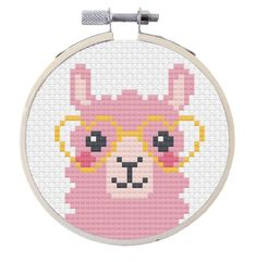 Kawaii Cross Stitch, Simple Cross Stitch, Modern Cross Stitch, Easy Cross Stitch Patterns, Cross Stitch Designs, Loom Patterns, Embroidery Kits, Cross Stitch Embroidery, Ribbon Embroidery