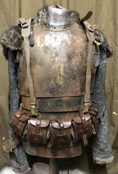 Dust monkey post apocalyptic trench fighter armour and harness work in progress