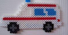 Ambulance / hama perler beads / Bügelperlen | vehiculos | Pinterest | Perler Beads, Beads and Photos