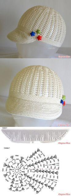 Exceptional Stitches Make a Crochet Hat Ideas. Extraordinary Stitches Make a Crochet Hat Ideas. Bonnet Crochet, Crochet Cap, Crochet Baby Hats, Crochet Beanie, Crochet For Kids, Crochet Clothes, Knitted Hats, Crochet Pattern Free, Crochet Flower Patterns