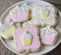 Cupcake Sugar Cookies - just too sweet