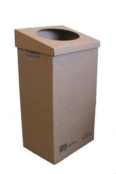 La realización de papeleras con cajas de cartón.