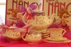 Fancy Nancy birthday party tea set party favors