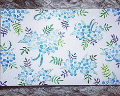 I'm done. #flora #flowers #leaves #botanical #botanic #botanicalart #illustration #illust #blue #green #art #artwork #artstagram #watercolor #pattern #꽃 #보타니컬아트 #수채화 #패턴 #그림그리기 #일상 #그림스타그램 #goodnight
