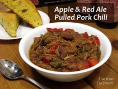 Apple and Red Ale Pulled Pork Chili from Curious Cuisiniere