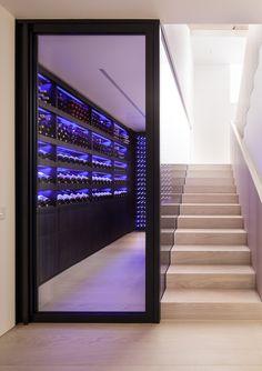Hampstead — Wine by Design Glass Wine Cellar, Home Wine Cellars, Wine Cellar Design, Under Stairs Wine Cellar, Wine Cellar Basement, Caves, Alcohol Store, Minimal House Design, Whisky Bar