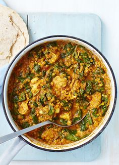 Chicken saag - this recipe proves that you can eat healthily without having to miss out on your favourite foods. This comes in at under 500 calories and is ready in under an hour.
