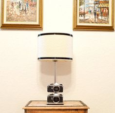 Vintage Camera Lamp made with 2 Pentax  ME by VintageCameraClub, $190.00