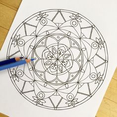 mandala peace hand drawn adult coloring page print