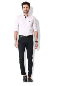 Give yourself an ultra-modern casual look with these navy blue coloured chino pants from KOZZAK. Mens Chino Pants, Casual Looks, Navy Blue, Suits, Amazon, Modern, Color, Style, Fashion